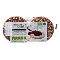 Bunalun Milk Chocolate & Coconut Rice Cakes 100g