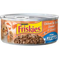 Purina Friskies Prime Filets Chicken & Tuna Wet Cat Food 156 g