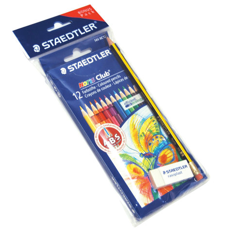 Steadtler-12-Color-Pencil-+-Eraser-+-Noris-Pencil