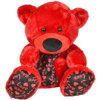 Cuddles Bear Red/Black 60Cm
