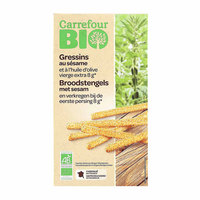 Carrefour Bio Organic Gressins Sesame 125g