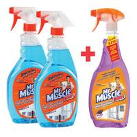 Mr.Muscle Glass Cleaner + Glass Cleaner Lavender
