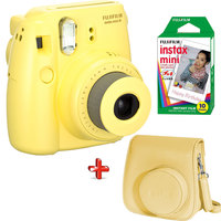 Fujifilm Instax Camera Mini 8 Yellow + Film + Case Worth 93 AED