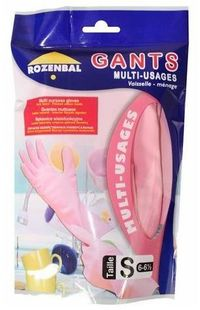 Rozenbal Rubber Latex Gloves 1 Pair Small