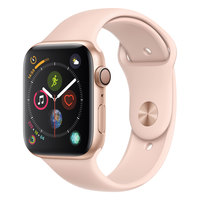 Apple Watch Series-4 GPS + Cellular 44mm Gold Aluminium Case with Pink Sand Sport Band (MTVW2AE/A)