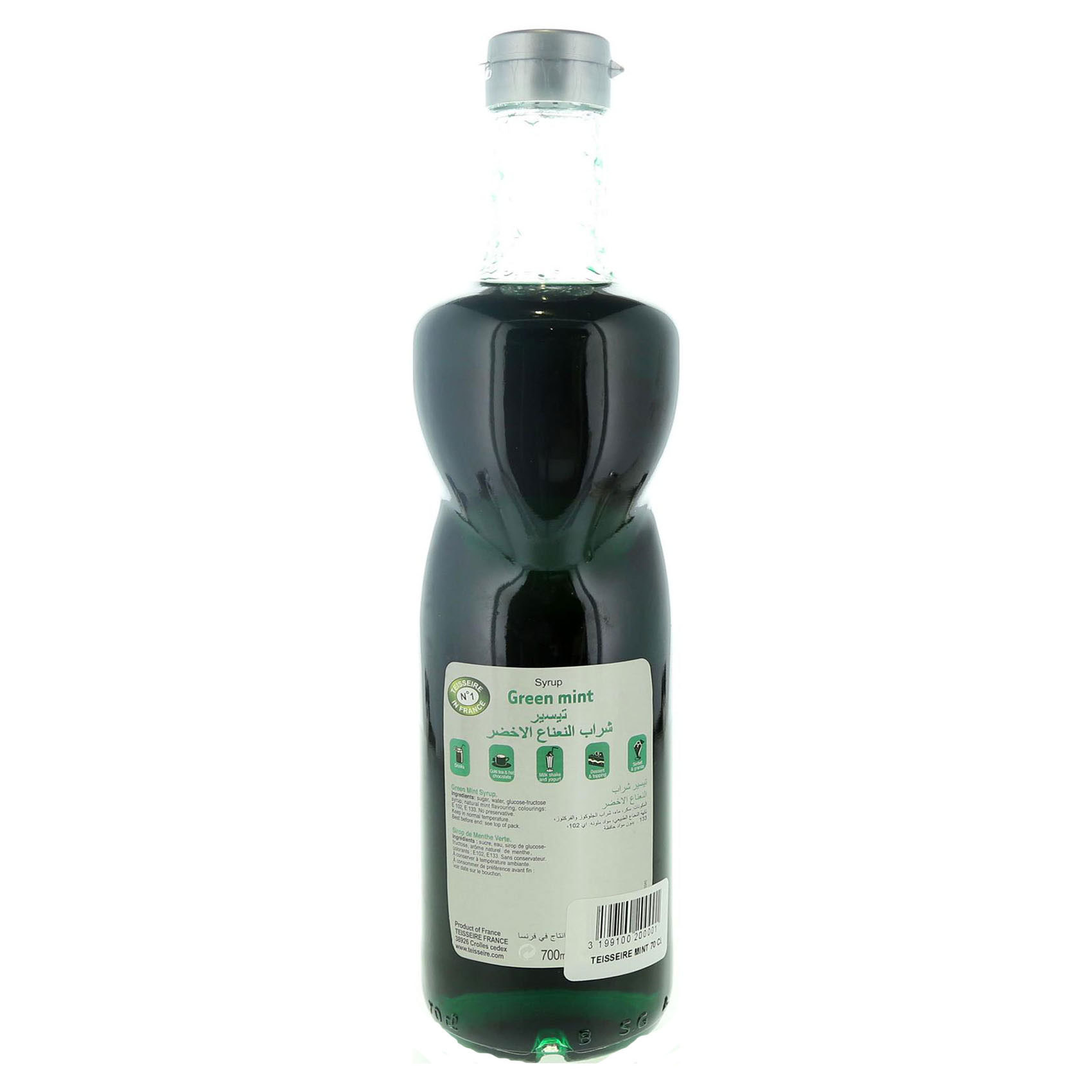 TEISSEIRE SYRUP GREEN MINT 70CL
