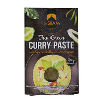 deSIAM Thai Green Curry Paste With Green Chillies & Lemongrass Spicy 70g