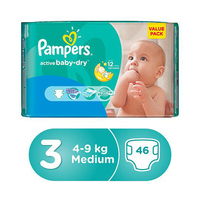 Pampers Diapers Value Pack Active Baby Size 3