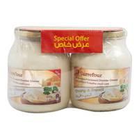 Carrefour Spreadable Cheddar Cheese 910gx2