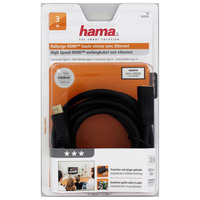 Hama Hdmi Extension Cable Plug - Socket Ethernet Gold-Pl. 3.0 M