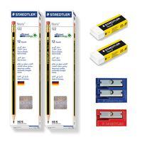Staedtler 24 Noris Pencil +2 Sharpener + 2 Eraser