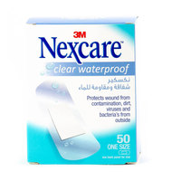Nexcare Clear Waterproof One Size 50 Bandages