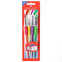 Faber-Castell Eva Grip 3Brushes Round & Flat Brush