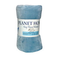 Planet Home Flannel Blanket 220X240 Light Grey