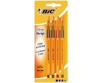 Bic Cristal Grip Pens Assorted Color Pack Of 4 Pieces