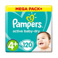 Pampers Diapers Mega Box Size 4 120Pieces Save Up To 40 Diapers
