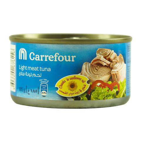 Carrefour-Light-Meat-Tuna-Chunks-in-Sunflower-Oil-185g