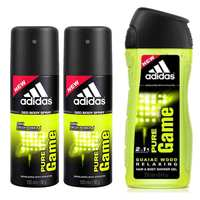 Adidas Deodorant Pure Game 150 Ml 2 Pieces + Adidas Pure Game Shower Gel 250 Ml