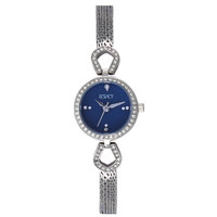Ecstacy Women's Watch Analog Display Blue Dial Silver Stainless Steel Bracelet - E7502-SBSMN