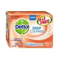 Dettol Soap Deep Cleansing 120GR 5+1 Free