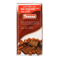 Torras Sugar Free Milk & Hazelnuts Chocolate 75g