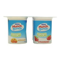 Nestle Munch Bunch Whole Milk Yogurt Apricot Strawberry 100g x4
