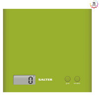Salter Digital Kitchen Scale 1066 GNDR ARC Green Slim Design