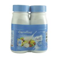 Carrefour 2 Bottles Light Cream UHT Sterlized With 12% Of Fatty Matter 250mlx2