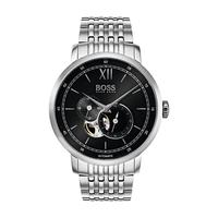 Hugo Boss Men's Watch STCOL Analog Black Dial Silver Metal Band 44mm  Case