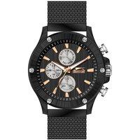 Slazenger Men's Multifunction Display Black Dial Black Stainless Steel Bracelet - SL.9.6006.2.03