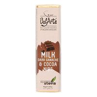 Belarte Milk Dark Ganache & Cocoa Nibs Chocolate Bar 42g