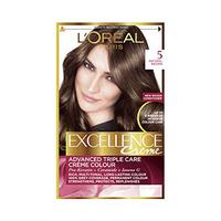 L'Oreal Paris  Excellence Colour Cream Brown Light No 5 -10% Off