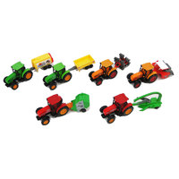 Speed Track Farm Tractor With trailer 1:64