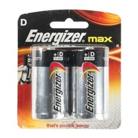 Energizer Max Alkaline Battery D Size Pack Of 2 Pieces