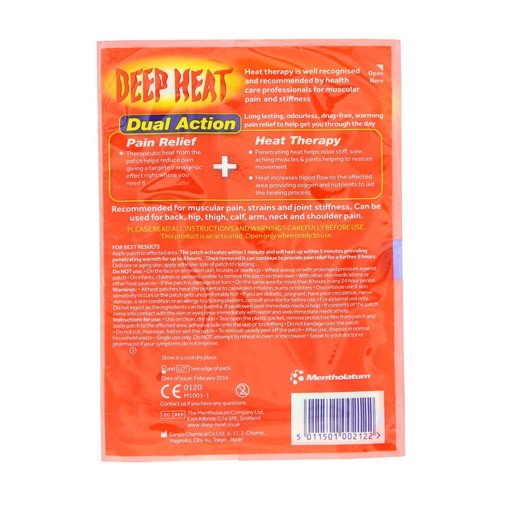 DEEP HEAT STRAIN RELIEF PATCH X1