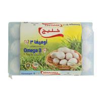 Khaleej Omega 3 White Eggs x15
