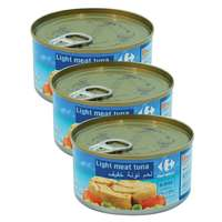 Carrefour Light Meat Tuna Chunks in Sunflower Oil 185g x3
