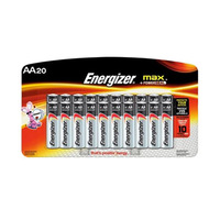 Energizer Max HP Type AA Alkaline Battery 15+5 Free