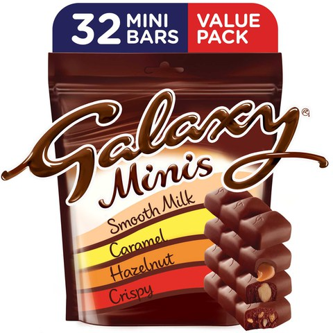 Galaxy®-Minis-Assorted-Chocolate-Mini-Bars-Pouch-400g-(32-pcs)