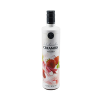 Creamers Strawberry Rhabarber Liquor 16% Alcohol 70CL