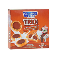 Carrefour Biscuit Three Chocolate 225g