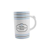 House Care Ceramic Mug Love 400 Ml White And Blue