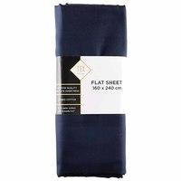 TEX Flat Sheet Single Dark Blue