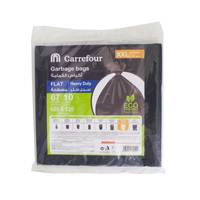 Carrefour Flat Garbage Bags XX- Large 10 Bags 67 Gallons