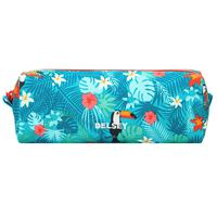 Delsey School 2018 Pencil Case Turquoise Tropical