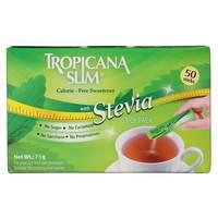 Tropicana Slim Calorie-free Sweetener With Stevia 50 Sticks 75g