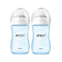 Philips Avent Natural Feeding Bottle Blue 260ML 2 Pieces