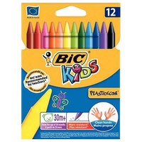 Bic Kids Plastidecor Crayons Color Pack Of 12 Pieces