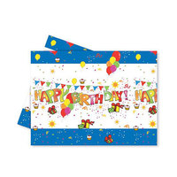 Koklio Table Cover Happy Birthday Blue