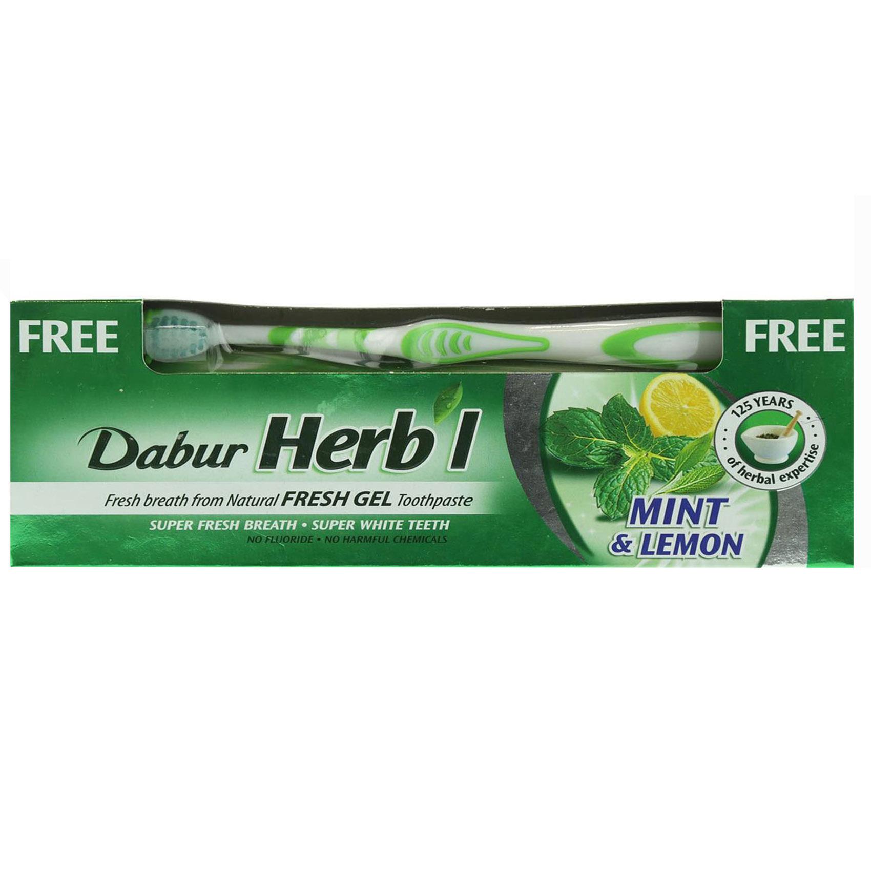 DABUR HRBAL FRSH GEL 150G BRSH FREE